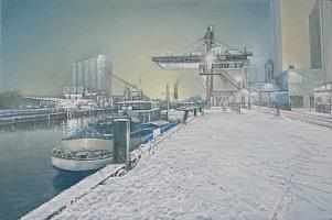 Celso Martinez Naves Hafen im Winter 40 x 60 cm.JPG